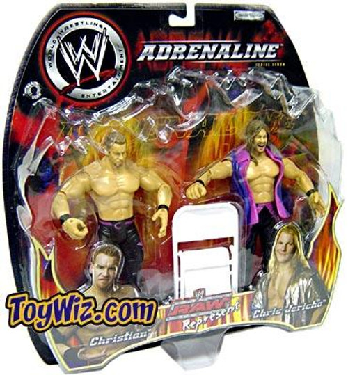 WWE Wrestling Adrenaline Series 7 Raw Represent Jericho & Christian Action Figure 2-Pack
