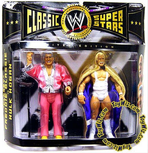WWE Wrestling Classic Superstars Series 4 Classy Freddie Blassie & Hulk Hogan Exclusive Action Figure 2-Pack