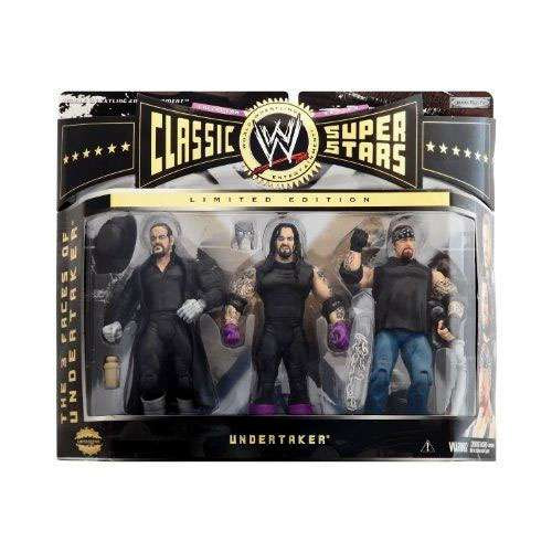 WWE Wrestling Classic Superstars Series 3 3 Faces of The Undertaker Exclusive Action Figure 3-Pack