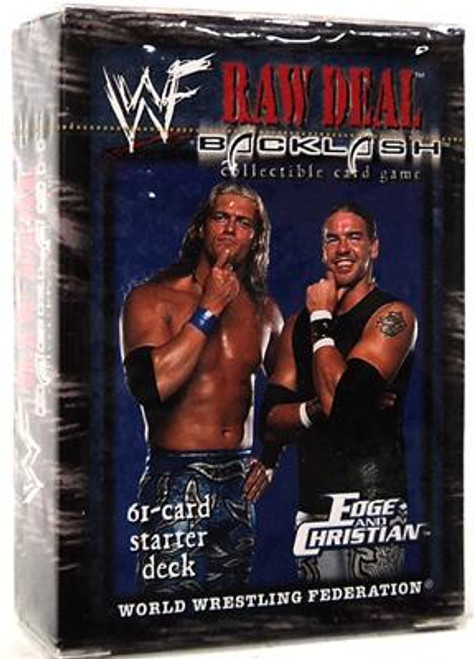 WWE Wrestling Raw Deal Trading Card Game Backlash Edge & Christian Starter Deck