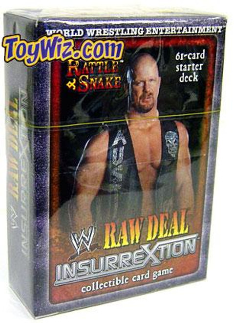 WWE Wrestling Raw Deal Trading Card Game InsurreXtion The Rattlesnake Starter Deck