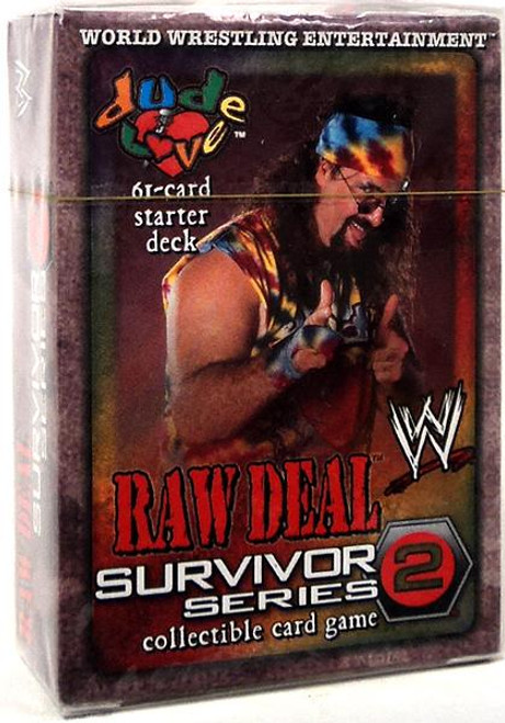 WWE Wrestling Raw Deal Trading Card Game Survivor Series 2 Dude Love Starter Deck