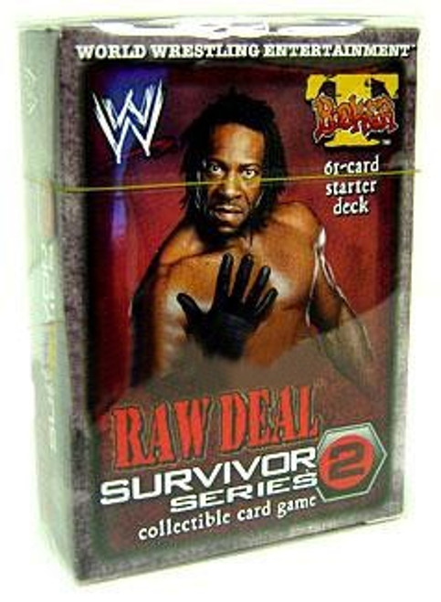 WWE Wrestling Raw Deal Trading Card Game Survivor Series 2 Booker T Starter Deck