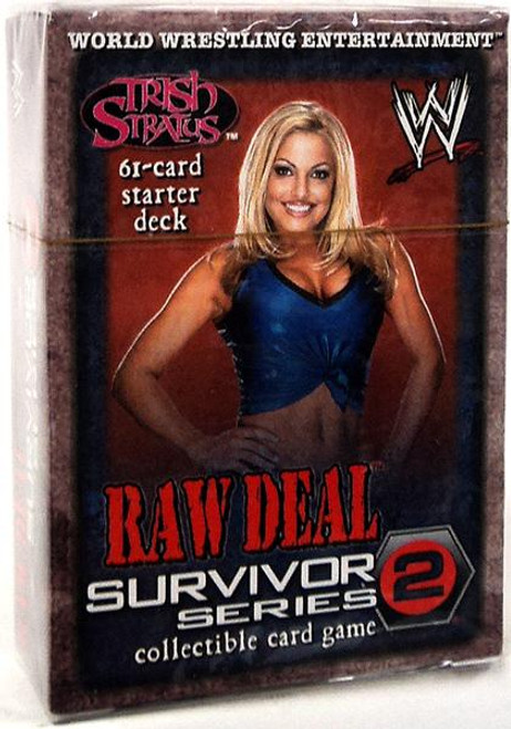 WWE Wrestling Raw Deal Trading Card Game Survivor Series 2 Trish Stratus Starter Deck