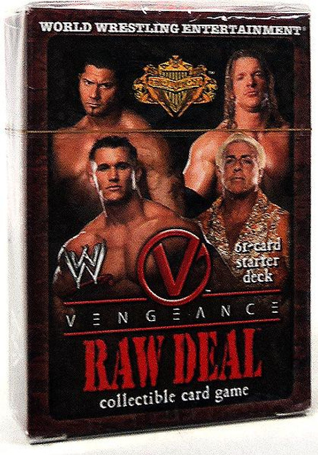 WWE Wrestling Raw Deal Trading Card Game Vengeance Evolution Starter Deck