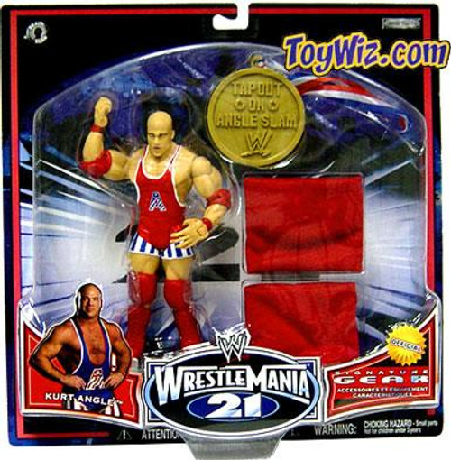 WWE Wrestling WrestleMania 21 Series 2 Kurt Angle Exclusive Action Figure