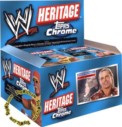WWE Wrestling Topps Chrome WWE Heritage Series 1 Trading Card Box
