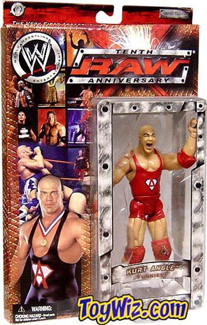 WWE Wrestling Raw 10th Anniversary Kurt Angle Action Figure