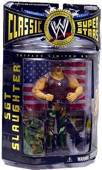 WWE Wrestling Classic Superstars Limited Editions All American Sgt Slaughter Exclusive Action Figure