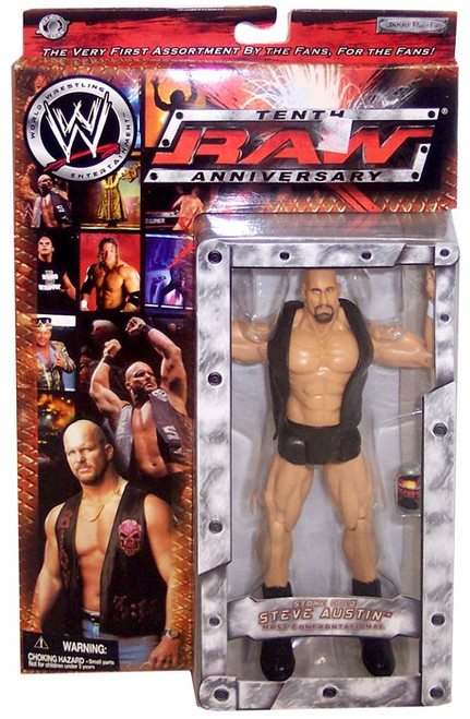 WWE Wrestling Raw 10th Anniversary Stone Cold Steve Austin Action Figure