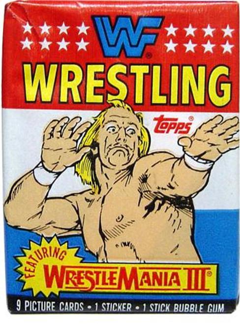 WWE Wrestling 1987 WWF Wrestlemania III 1987 Wrestlemania III Wax Pack Trading Card Pack