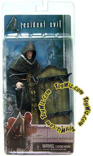 NECA Resident Evil 4 Series 2 Black Zealot with Shield Action Figure