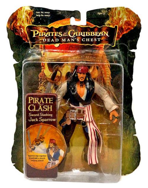 Pirates of the Caribbean Dead Man's Chest Pirate Clash Captain Jack Sparrow Action Figure [Sword Slashing]