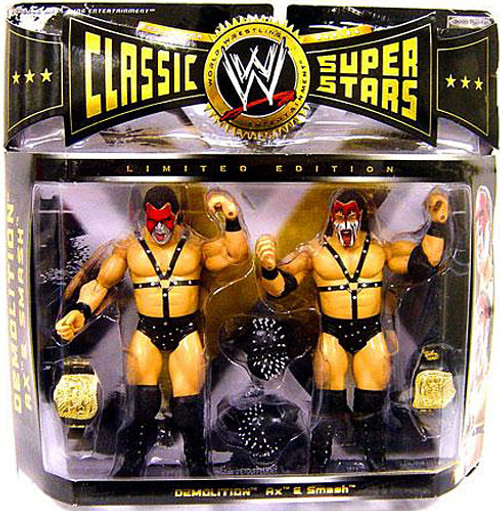 WWE Wrestling Classic Superstars Series 5 Demolition Ax & Smash Exclusive Action Figure 2-Pack