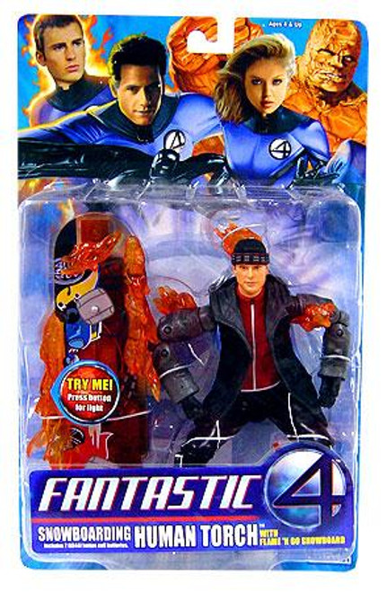 Marvel Fantastic Four Human Torch Action Figure [Snowboarding]