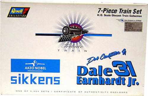 NASCAR Revell Collection Dale Earnhardt Jr. Diecast Train Set [H.O. Scale]