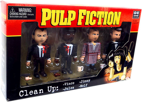 NECA Pulp Fiction Geomes Clean Up Mini Figure 4-Pack #3