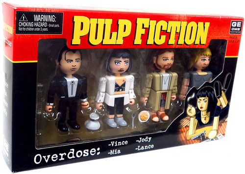 NECA Pulp Fiction Geomes Overdose Mini Figure 4-Pack #4