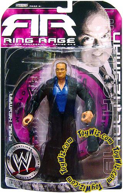 WWE Wrestling Ruthless Aggression Series 24.5 Ring Rage Paul Heyman Action Figure