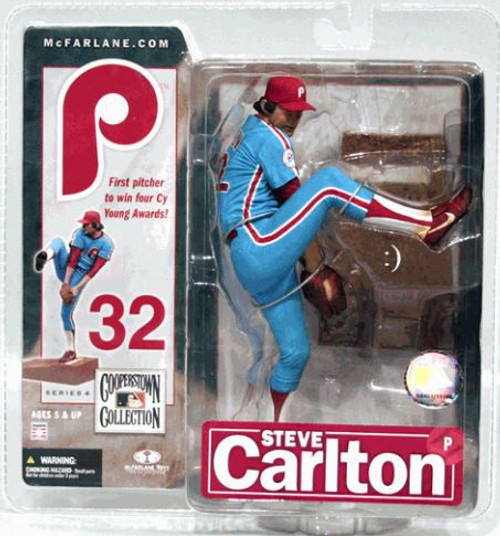 McFarlane Toys MLB Philadelphia Phillies Cooperstown Collection Series 4 Steve Carlton Action Figure [Blue Uniform]