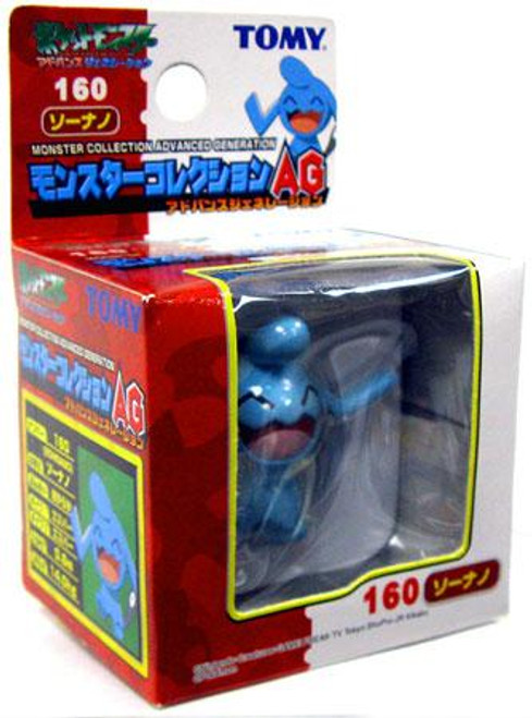 Pokemon Japanese Monster Collection Advanced Generation Wobbufett PVC Figure #160