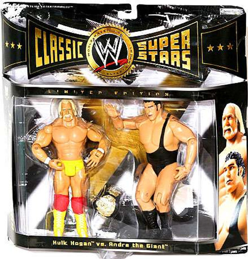 WWE Wrestling Classic Superstars Andre The Giant vs. Hulk Hogan Exclusive Action Figure 2-Pack