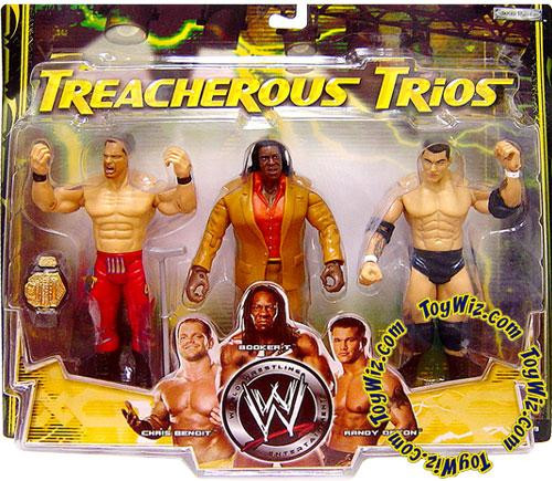 WWE Wrestling Treacherous Trios Series 1 Chris Benoit, Booker T & Randy Orton Exclusive Action Figure 3-Pack