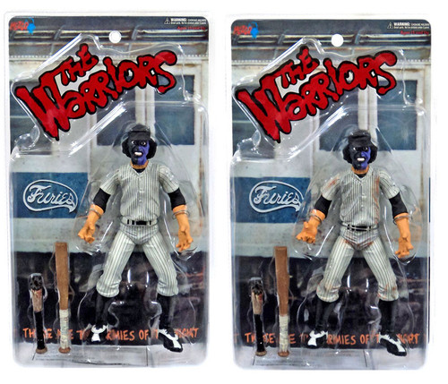 The Warriors Set of 2 Purple & Black Faced Baseball Fury Exclusive Action Figures