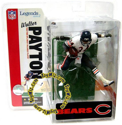 McFarlane Toys NFL Chicago Bears Sports Picks Legends Series 2 Walter Payton Action Figure [White Jersey Variant]