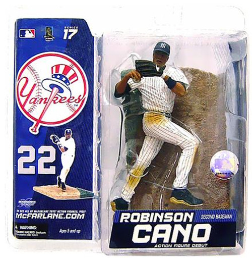 McFarlane Toys MLB New York Yankees Sports Picks Series 17 Exclusive Robinson Cano Exclusive Action Figure [White Jersey]