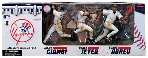 McFarlane Toys MLB New York Yankees Sports Picks Exclusive 3-Pack Jason Giambi, Derek Jeter & Bobby Abreu Exclusive Action Figure 3-Pack
