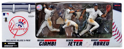 McFarlane Toys MLB New York Yankees Sports Picks Exclusive 3-Pack Jason Giambi, Derek Jeter & Bobby Abreu Exclusive Action Figure 3-Pack