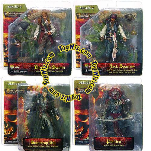 NECA Pirates of the Caribbean Dead Man's Chest Series 2 Set of 4