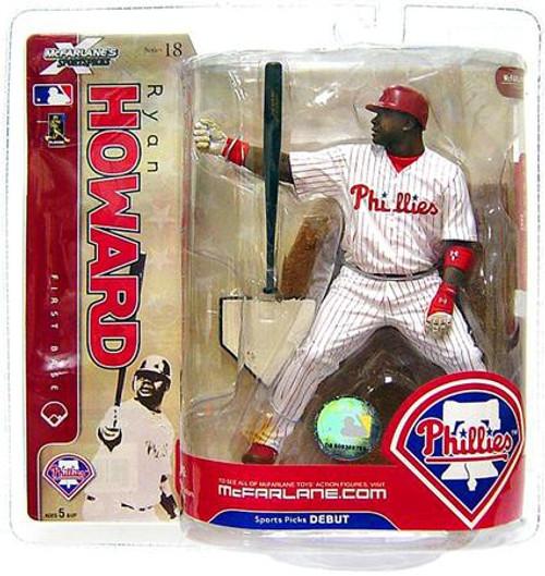McFarlane Toys MLB Philadelphia Phillies Sports Picks Series 18 Ryan Howard Action Figure [White Jersey]