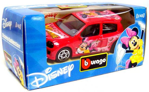 Disney Mickey Mouse Burago Minnie Mouse Diecast Car [Pink]