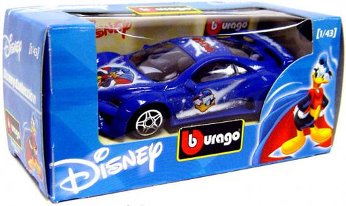 Disney Mickey Mouse Burago Donald Duck Diecast Car