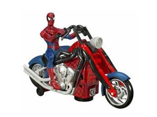 Spider-Man Origins Bump 'n Go Spidey on Chopper Action Figure