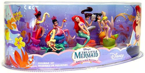 Disney The Little Mermaid Ariel & Her Sisters Figurine Set Exclusive 3-Inch