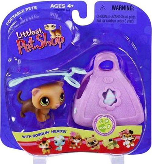 Littlest Pet Shop Portable Pets Ferret Figure #209 [In Purse]