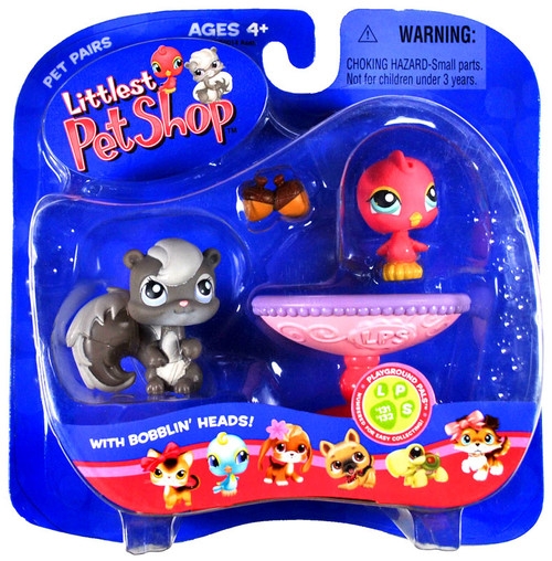Littlest Pet Shop Pet Pairs Bird & Squirrel Figure 2-Pack