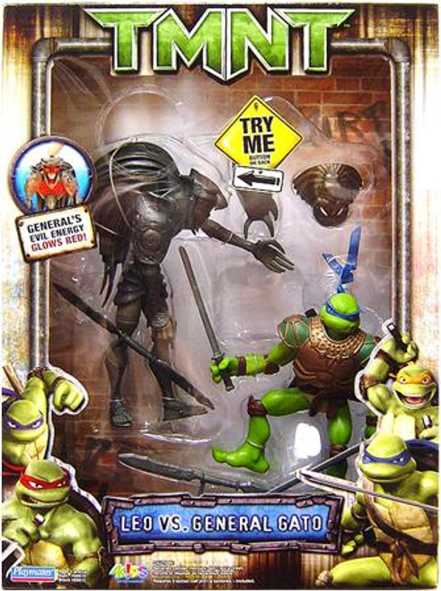 Teenage Mutant Ninja Turtles TMNT Leonardo Vs. General Gato Action Figure 2-Pack