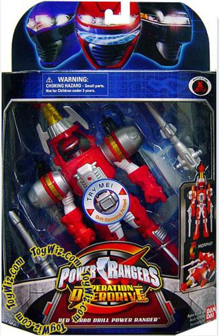 Power Rangers Operation Overdrive Red Turbo Drill Power Ranger Action Figure