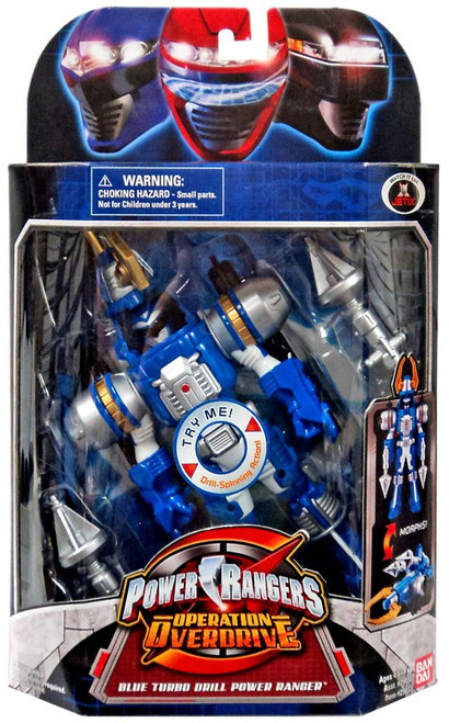 Power Rangers Operation Overdrive Blue Turbo Drill Power Ranger Action Figure