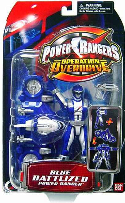Power Rangers Operation Overdrive Blue Battlized Power Ranger Action Figure