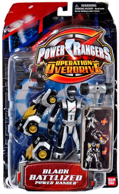 Power Rangers Operation Overdrive Black Battlized Power Ranger Action Figure