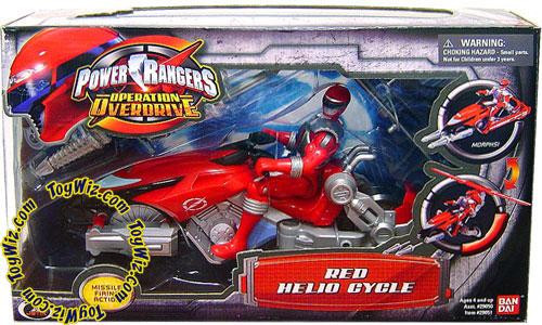Power Rangers Operation Overdrive Red Helio Cycle Action Figure