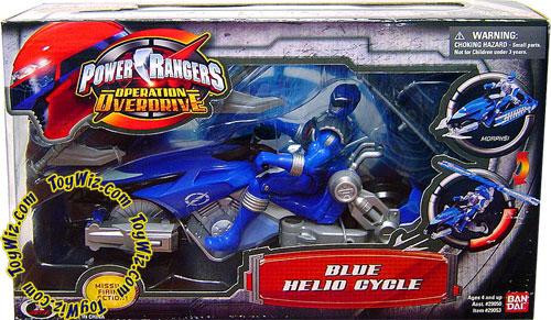 Power Rangers Operation Overdrive Blue Helio Cycle Action Figure