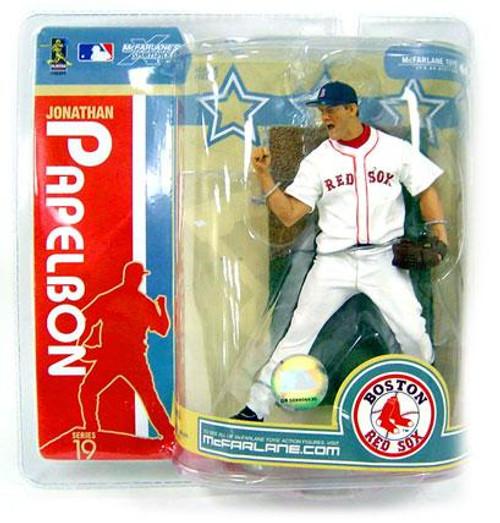 McFarlane Toys MLB Boston Red Sox Sports Picks Series 19 Jonathan Papelbon Action Figure [White Jersey]