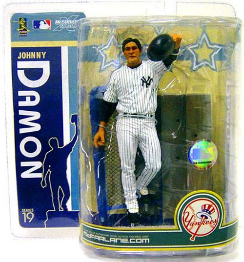 McFarlane Toys MLB New York Yankees Sports Picks Series 19 Johnny Damon Action Figure [White Jersey]