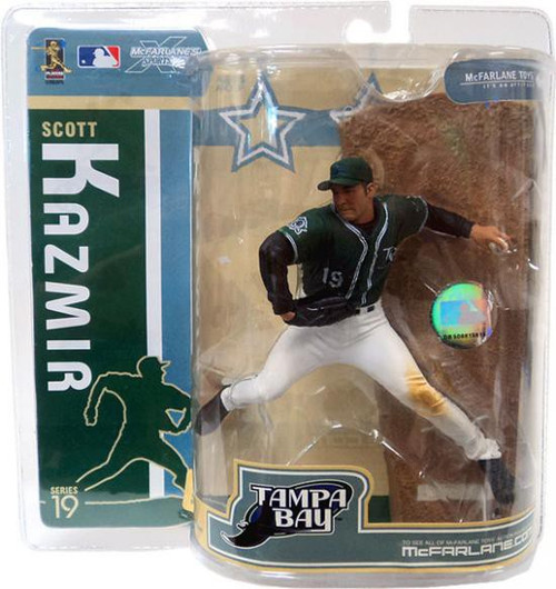 McFarlane Toys MLB Tampa Bay Rays Sports Picks Series 19 Scott Kazmir Action Figure [Green Jersey]